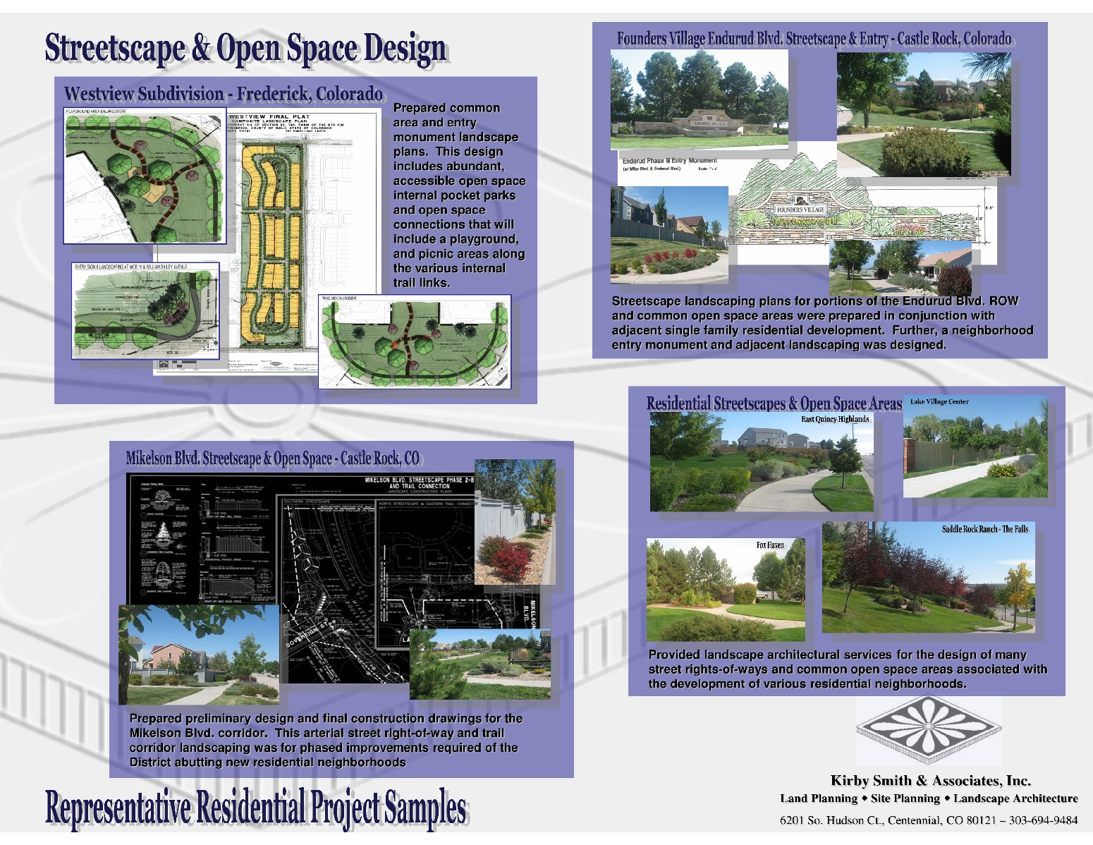 Portfolio of projects kirby smith associates inc for Garden design qualifications