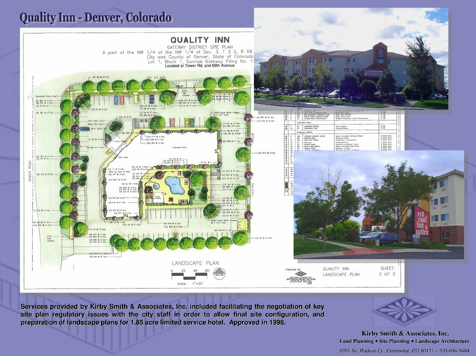 Commercial mixed use landscape design kirby smith for Garden design 1 acre